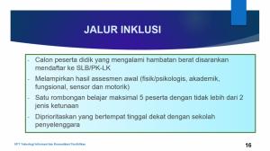 4. Persyaratan Jalur Inklusi
