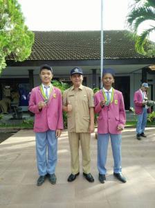 Medali perunggu taekwondo tingkat nasional di sleman Yogyakarta